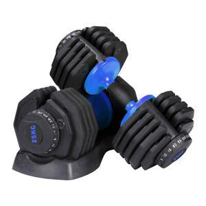 2 X 25 Kg D-Stat Adjustable Dumbbells (Pair) for Home Gym