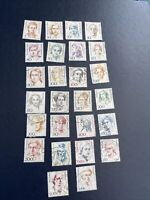 "Germany & Berlin 26 Different Stamps Honoring ""Famous Women"" Used"
