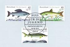 BRD 2015: Süßwasserfische! Jugendmarken Nr. 3169-3171 mit Bonner Stempel! 1901