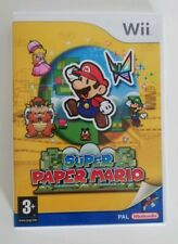 Super Paper Mario Nintendo Wii PAL Mint Complete CIB Fast Free Postage