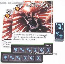 2x OWLMAN: BRAINS OF THE OPERATION 66/124 Batman Dice Masters DC