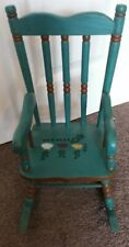 Beautiful 16 inch dolls vintage wooden painted rocking chair.