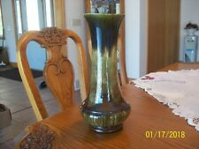 Elwill Canadian Tall Vintage Pottery Clay Marble and Ribbed Pattern Vase #647