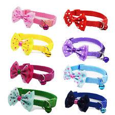 8PCS Lot Wholesale Puppy Cat Doggie Collar W/ Bell Adjustable Nylon Buckle Gift