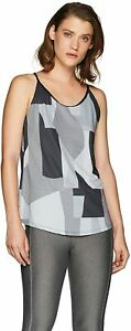 Under Armour Damen Speed Stride Printed Tank, Tank-Top, T-Shirt Black, MD