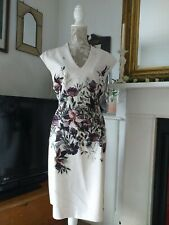 PHASE EIGHT PRETTY FLORAL SUMMER DRESS, SIZE 18, FIT & FLARE, PALE PINK