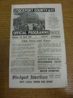 05/04/1947 Stockport County v Gateshead [Division 3 North] (folded). Any faults