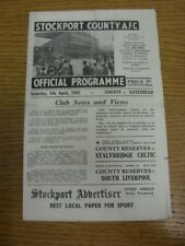 05/04/1947 Stockport County v Gateshead [Division 3 North] (folded). Any faults