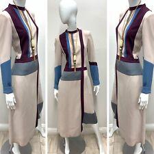 NWT BCBG MAXAZRIA RUNWAY Women's Colorblock Openback Asymmetrical Dress Size M