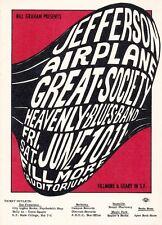 Mint Jefferson Airplane Great Society 1966 Bg 10 Fillmore Card