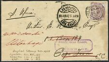 Military Mail 1901 Cover London-Uitenhage 'PASSED PRESS CENSOR/UITENHAGE'