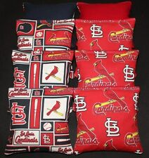 8 CORNHOLE BEAN BAGS made w St. Louis Cardinals fabric STL ACA Regulation MLB