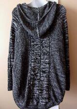 ATHLETA  Sz XS S  Cute  Hooded Marled  Oversized  Poncho Sweater
