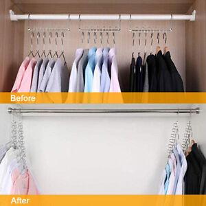 Metal Magic Hanger Space Saving Clothes Rack Hanger Closet Organizer Wardrobe UK