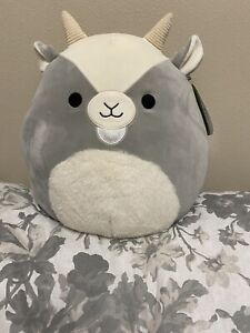 🐐 Squishmallow Walker The Grey Goat with A ( Fuzzy Tummy ) 12in ~RARE~