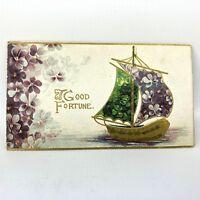 Vtg Christmas Card Ephemera Holiday Greeting Antique Fine Art Works Germany