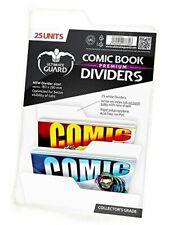 Ultimate Guard Premium Comic Book Intercalaires Lot de 25, Blanc