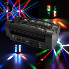 New 60W 8-LED RGBW Light Spider Moving Head Stage Lights DMX512 DJ Disco US Plug