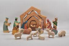 e87l12- Ostheimer Weihnachtskrippe mit Figuren