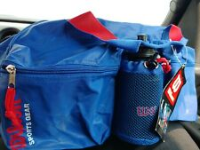 New / Vintage Wilson Sports Bag - Classic Red & Blue Colors with Sports Bottle