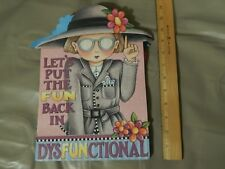 "Mary Engelbreit ""Lets Put the Fun Back in DysFunctional"" (Punch Studio) Gift Bag"
