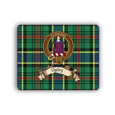 Ogilvy Scottish Clan Mousepad Hunting Tartan Crest Motto Computer Mouse Mat