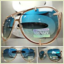 Mens or Women CLASSIC VINTAGE RETRO Style SUN GLASSES Rose Gold Frame Ombre Lens