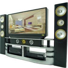 Hi-Fi TV Cabinet Set Home Theater 1:6 Furniture For Barbie Ken Dollhouse ACCES