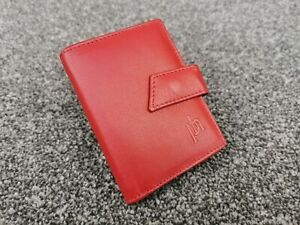 Prime Hide Leather Credit Card Coin Pouch & Key Ring Wallet Money Pocket Unisex