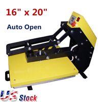 "US Stock 16"" x 20"" Auto Open T-shirt Heat Press Machine Slide Out Style"