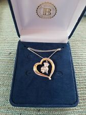 New ListingBradford Exchange I Love Pugs Silver Pendant