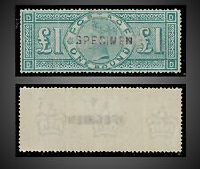 1891 GREAT BRITAIN QUEEN VICTORIA  1 £ POUND SPECIMEN MINT NG SG.212  SCT.124