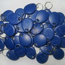 50pcs Writable Rewrite 125KHz EM4100 Blue RFID Keyfob For Copier Access control