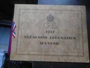 1937 Godalming, Coronation, King George VI Souvenir Programme, Union Jack Ribbon