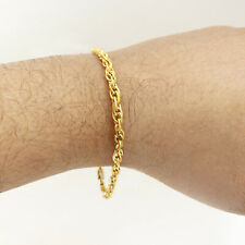 Fine Jewelry 18 Kt Real Solid Yellow Gold Double Link Curb Men's Bracelet 4.390g