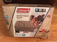 "Coleman Guestrest Plus Airbed Queen 18"" with 120V Pump"