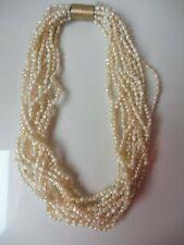 AAA 45cm 10mm real cría agua dulce perlas joyas collar collar de perlas Collier