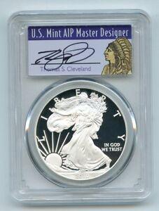 2010 W $1 Proof American Silver Eagle 1oz PCGS PR69DCAM Thomas Cleveland Native