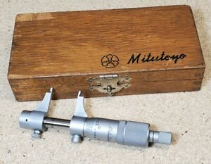 "Mitutoyo No. 145-211 inside micrometer- measures from .200"" to 1.000"" in case"