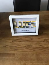 Leeds United lego picture ideal gift/birthday/christmas