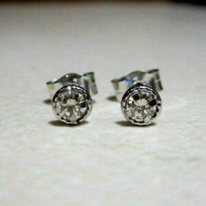 Brand New Halo Diamond18ct White Gold Stud Earrings £130 Freepost