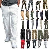 Mens Military Army Combat Trousers Work Cargo Pants Walking Hiking Multi Pockets