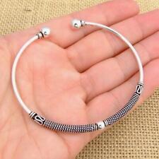 Bali 925 Sterling Silver Torque Bangle Bracelet Jewellery 12.1g Jewellery