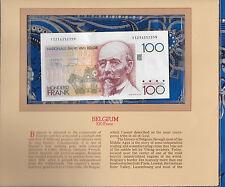 Most Treasured Banknotes Belgium 1982 100 Francs UNC P 142a.4 Lakière & Godeaux