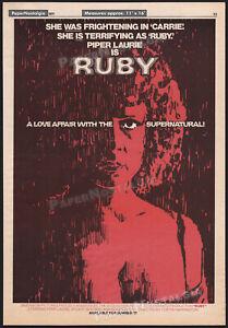 RUBY__Original 1977 Trade print AD promo / poster__PIPER LAURIE__STUART WHITMAN