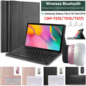 For Samsung Galaxy Tab A 10.1 2019 T510 Case Cover with Bluetooth Keyboard Mouse