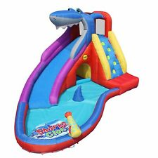 Happy Hop Sharks Club Inflatable Bouncer / Slide / Pool / Water Cannon