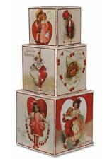 "Bethany Lowe Valentine's Day Sweetheart Nesting Blocks 3"" - 6"" Set of 3"