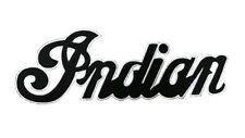 INDIAN MOTORCYCLE BLACK Cursive Text Patch Iron On Embroidered Large Back Patch