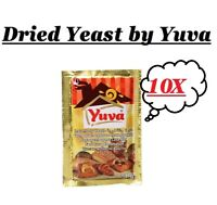 10 x7g Sachets Instant Dried Yeast by Yuva Best for Bread & Baking Fast Acting